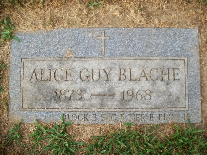 Original Tombstone of Alice Guy Blaché