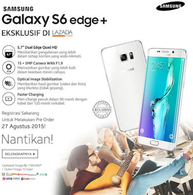Samsung Galaxy S6 Edge Plus di Lazada.co.id