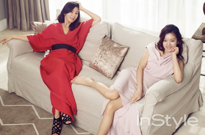 Kim Hee Ae and Go Ah Sung - InStyle Magazine March Issue 2014