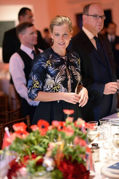 Countess Sophie of Wessex, Prince Albert II of Monaco and Prince Alwaleedbin Talal Al Saud attends the Prince Albert II of Monaco Foundation Dinner