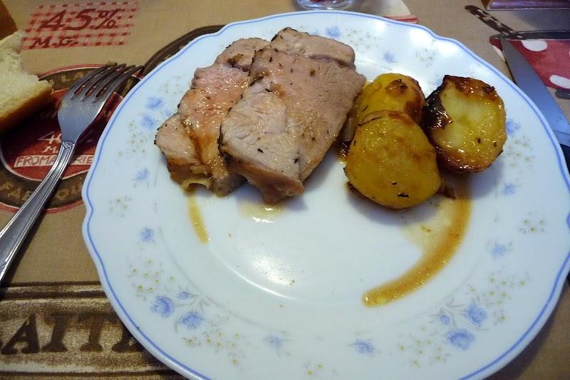 R ti de veau aux pommes de terre les d lices de baradozic - Cuisiner un roti de veau ...