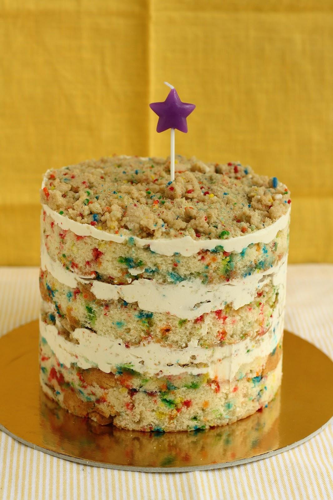 Funfetti Birthday Layer Cake from Momofuku Milk Bar hummingbird