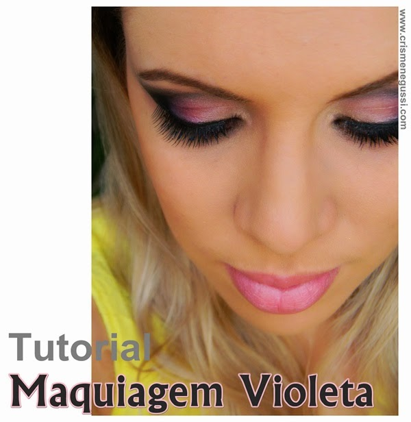 vídeo maquiagem violeta