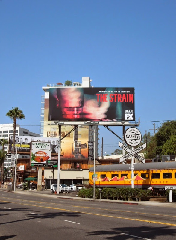 The Strain launch billboard version 2 Sunset Strip