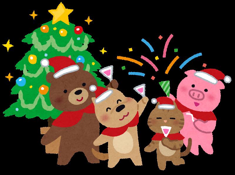 「クリスマス 動物 イラスト」の画像検索結果