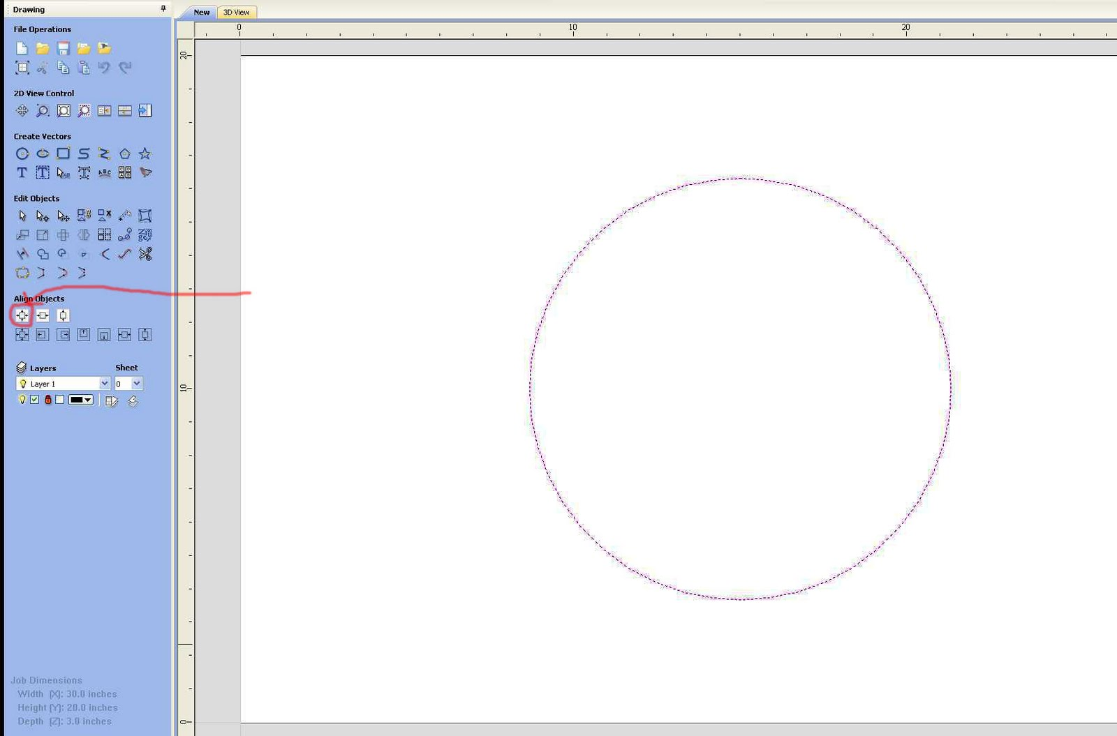 how to draw a decagon outside a circle