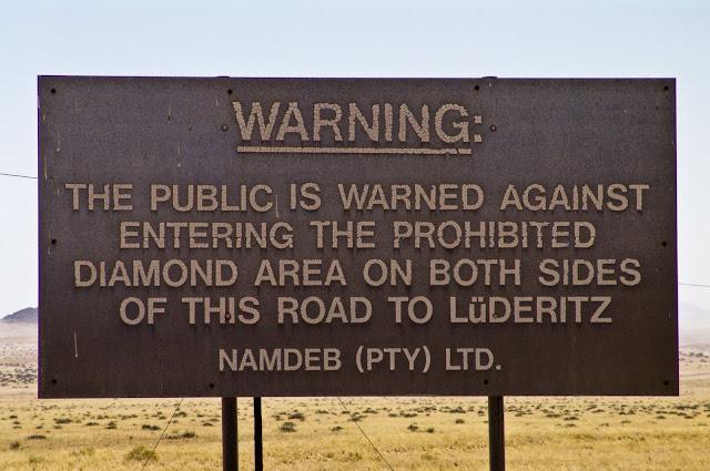 Sperrggebiet prohibited diamond area Namibia