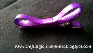 purple bow hair clip