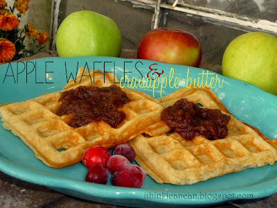 {I Think I Can} Apple Waffles, served with {I Think I Can} Cranapple Butter!