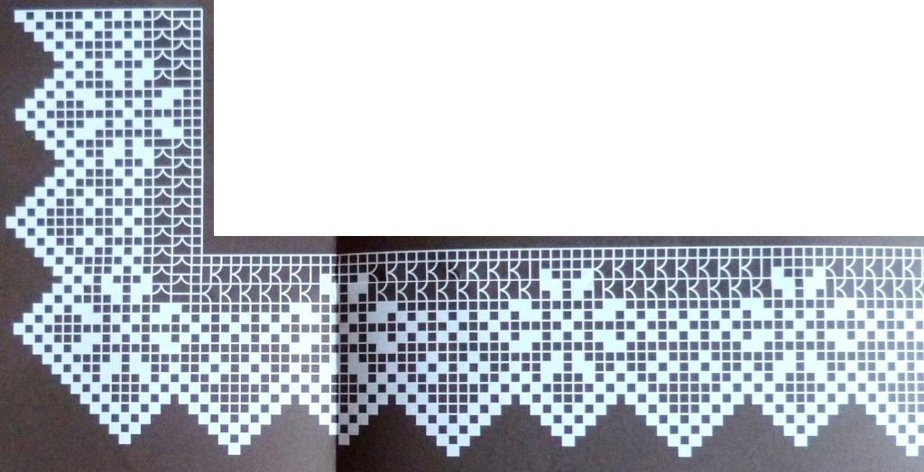 Филейное вязание бордюры 52