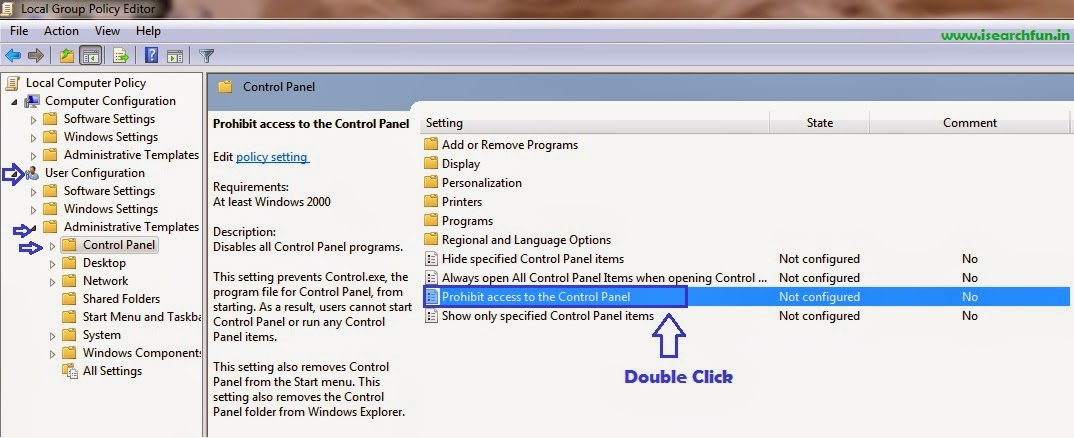 How to Enable or Disable Control Panel Access in Windows XP, 7 or 8