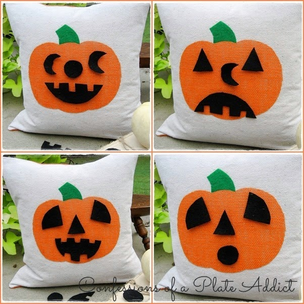 Felt Pumpkin Faces and 31 other Kid friendly Halloween ideas! Clever Nest with Hometalk #toddler #roundup #costume