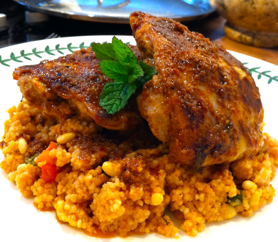 Harissa Chicken with Moroccan Cous cous