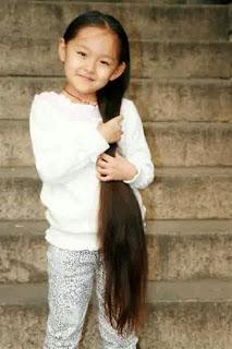 Model rambut panjang lurus cantik terbaru anak perempuan