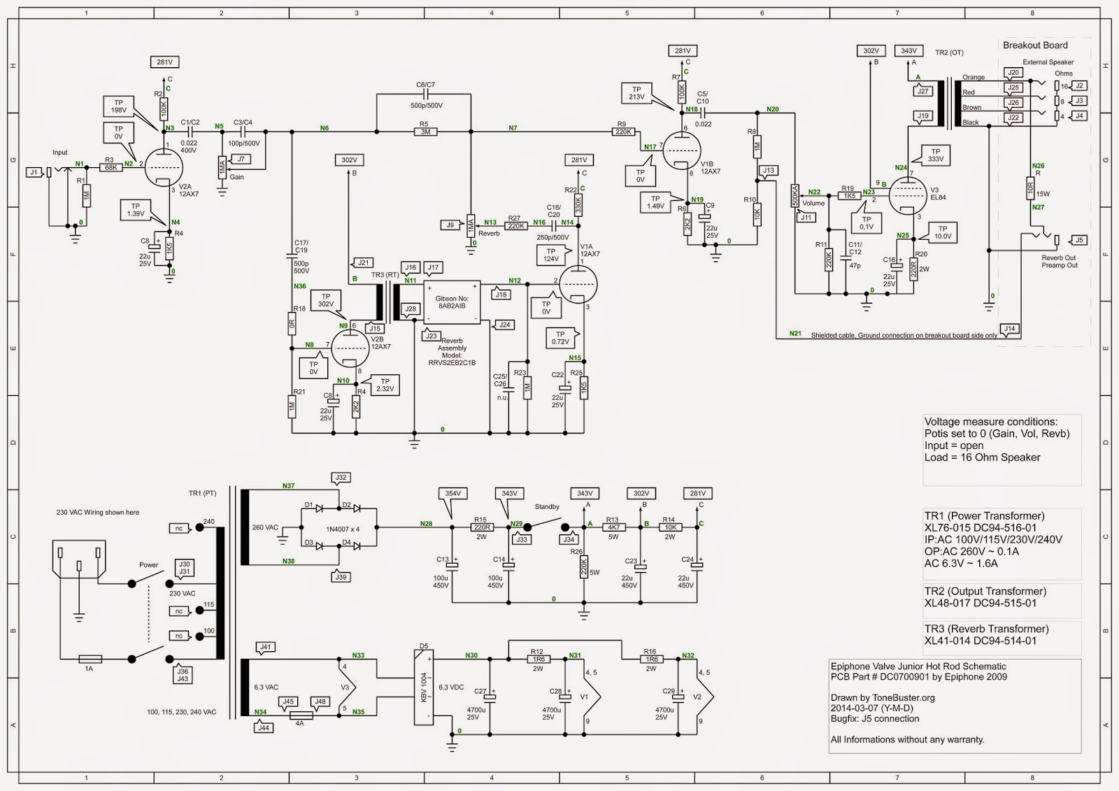 levy sound design evj hot rod original schematic