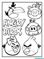 Ayo Mewarnai Gambar Angry Birds