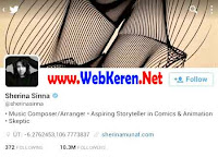 @Sherinasinna, Akun Twitter artis penyanyi Indonesia dengan followers terbanyak