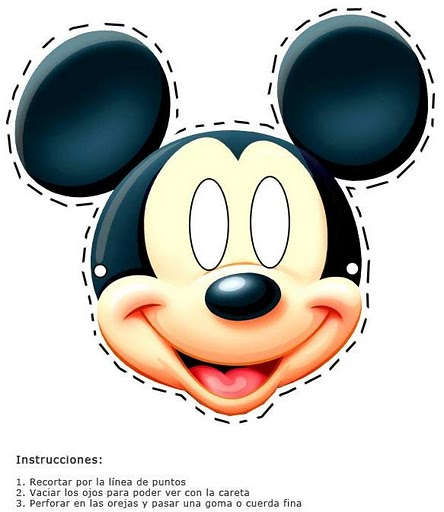 Careta mickey mouse para imprimir - Imagenes y dibujos para imprimir