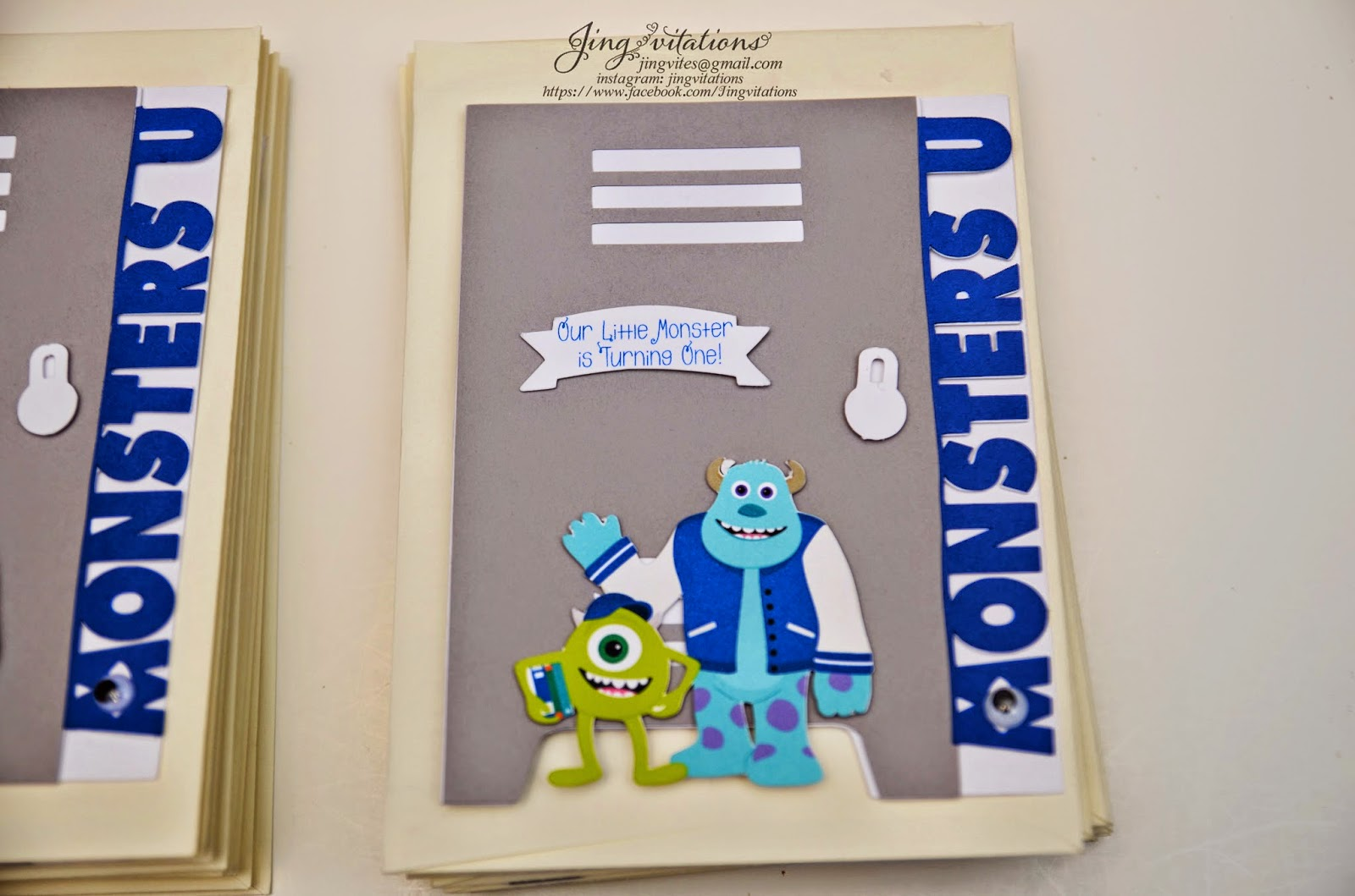 monster inc invitations