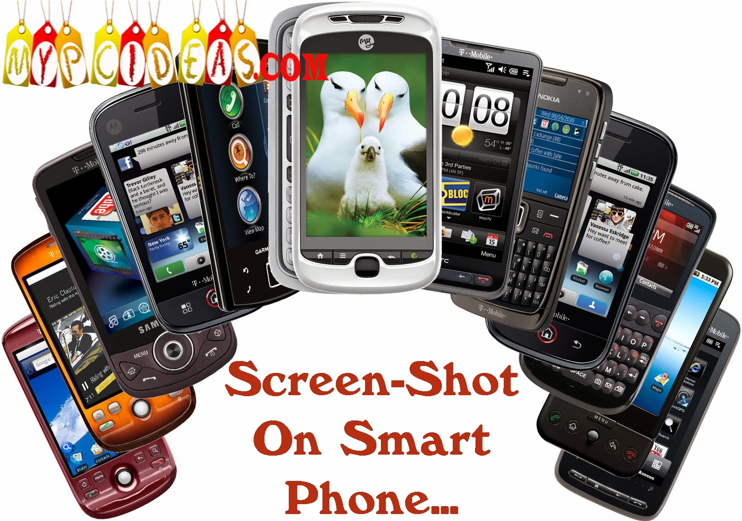 How to take a screen-shot in smartphone