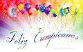 Mensajes de Cumpleaños con globos de colores