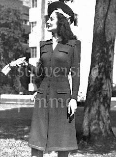 1940's Knitting - Tailored Chic Dress pattern