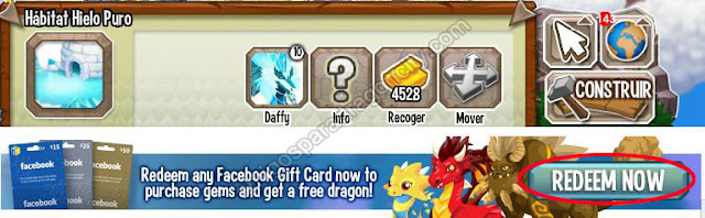 canjear cerditos de tarjeta de facebook en dragon city