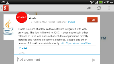 Oracle is aware of a flaw in Java software integrated with web browsers