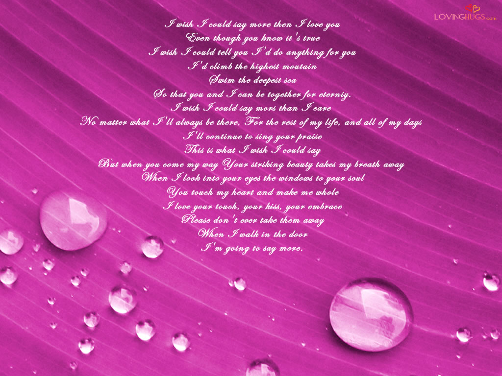Free Love Poems And Quotes Free Wallpaper Dekstop I Love You Poem Wallpaper I Love You