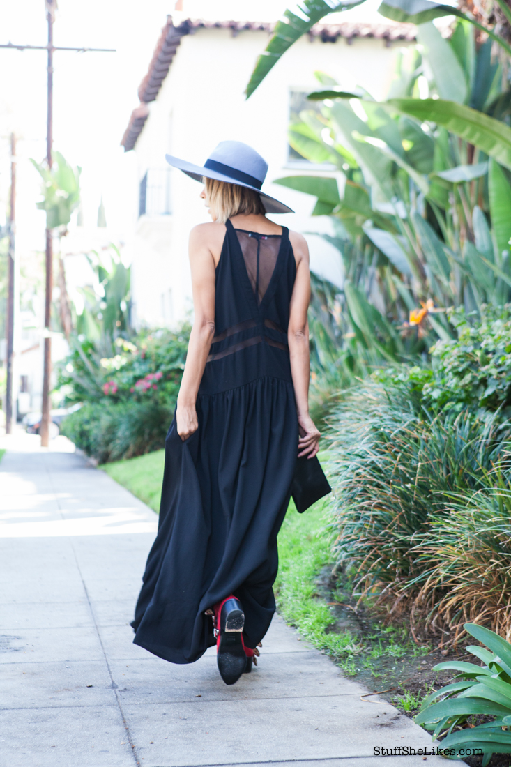 lack of color hats, toga pula boots, Los Angeles, Three of something dress, How to wear a maxi dress for fall, Best fashion blogger, top LA fashion blogger, Black fashion blogger, blonde fashion blogger