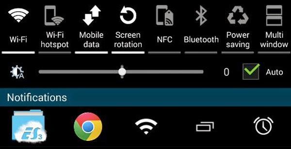 Cómo añadir accesos directos a la barra de notificaciones de Android