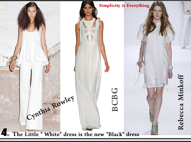 Spring Summer 2013 Fashion Trend Alert - the little white dress is the new black dress