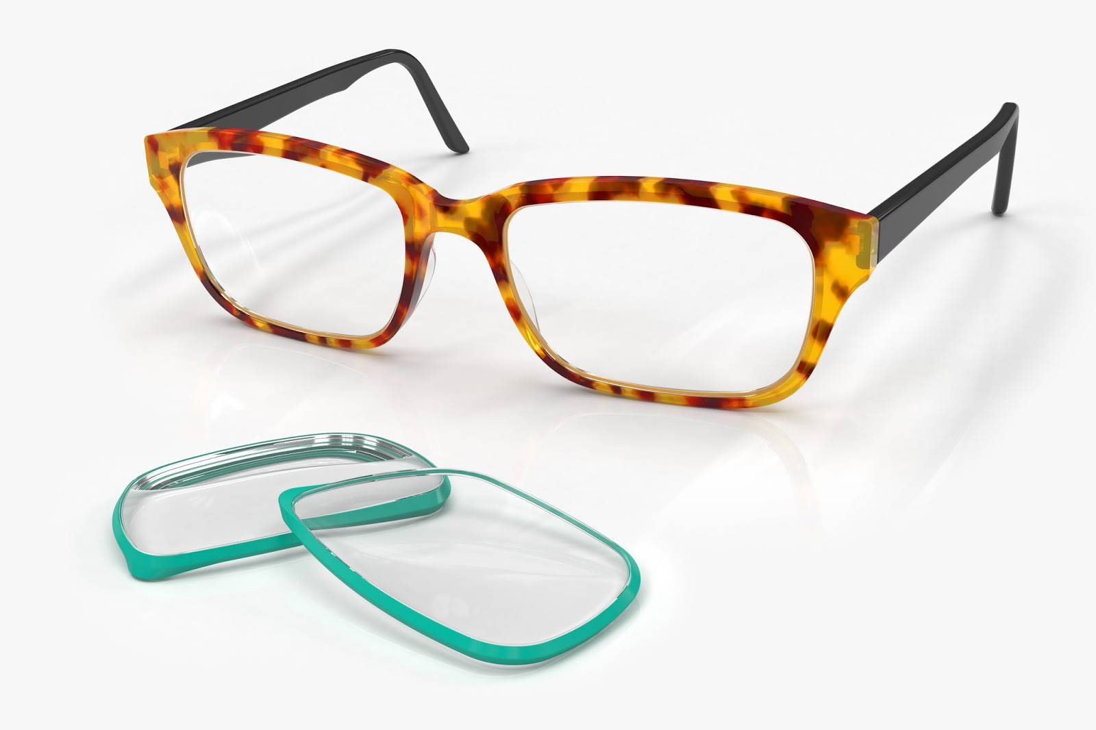 Changeable Glasses Frame : The Well-Appointed Catwalk: Interchangeable Frames by Frameri