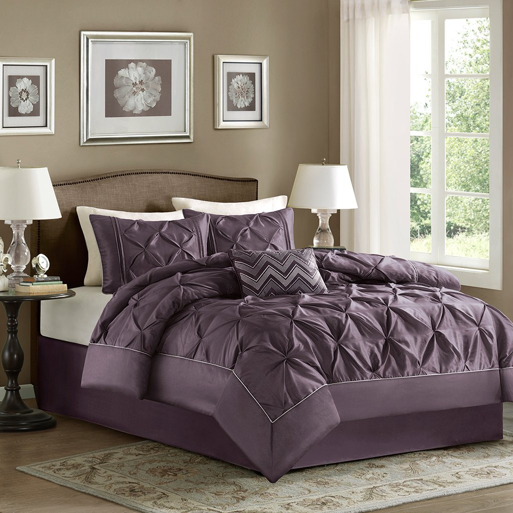 pinch pleat gray collection piece set comforter products hudson pinched home sweet