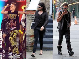 Meggings, Justin Bieber, Russell Brand, Lenny Kravitz, Justin Bieber gay