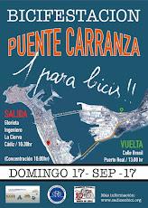¡Carril bici y peatonal por el puente Carranza YA!