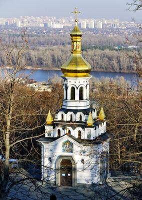 Фото Укринформ: храм-часовня Андрея Первозванного