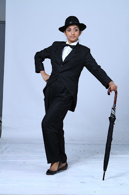 Meera Jasmine latest Photoshoot as Charlie Chaplin for Anbulla Kamal movie gallery pictures