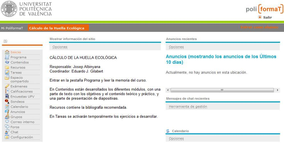 Curso de calculo de huella ecol gico online universidad for Universidad de valencia online