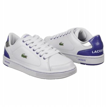 Lacoste Kids' Nistos RC Grd Shoes (White/Purple). Keep them looking casually ...