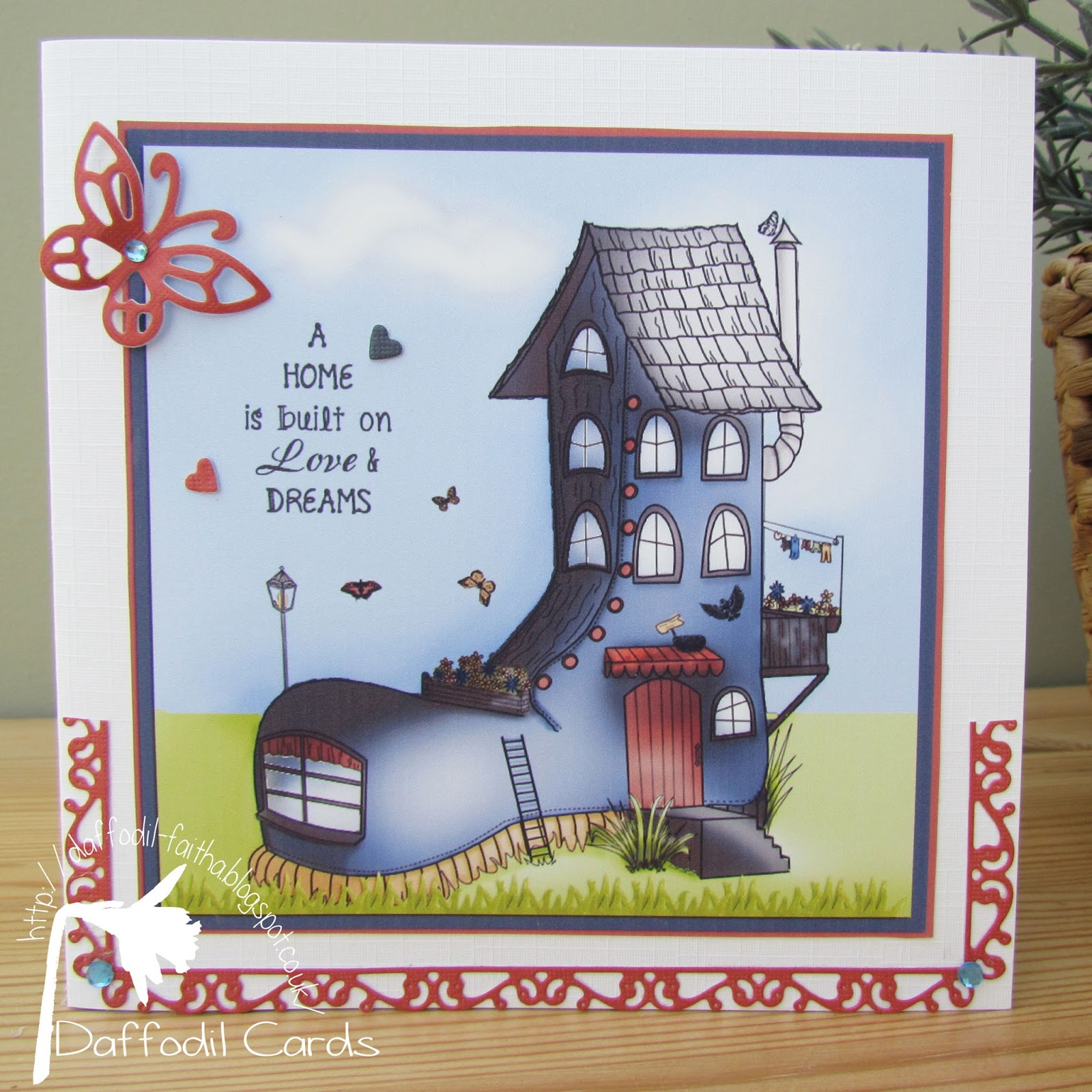 Daffodil Cards New Home Card