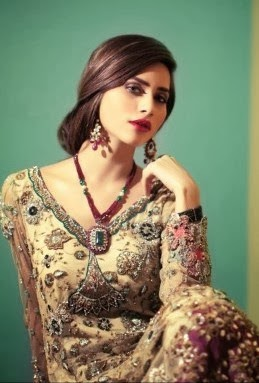New Designs Of Bridal Suits 2014