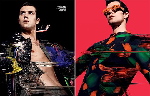roberto bolle, vogue russia 2014, futuristic, editorial