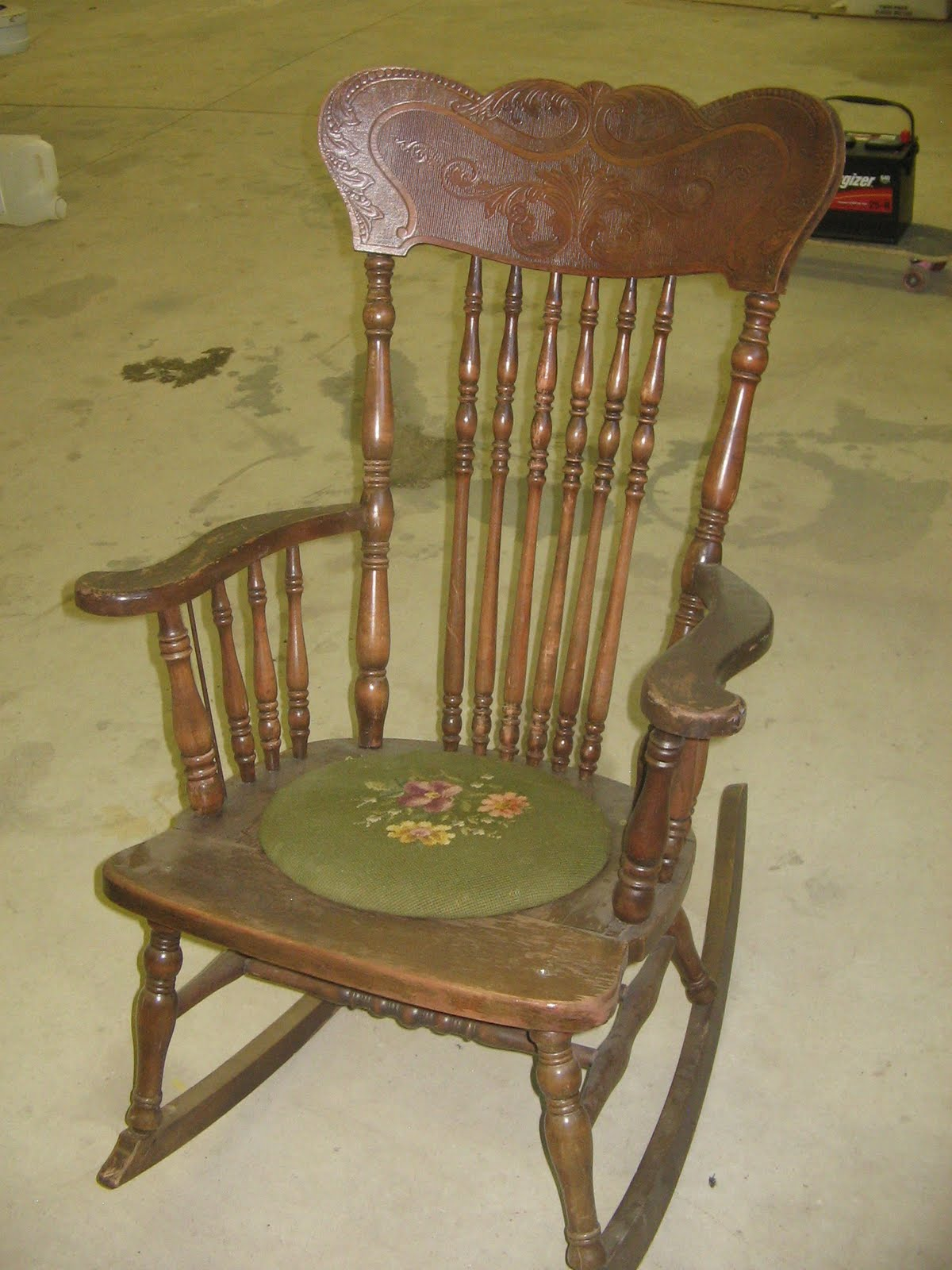 summer days antique wooden rocking chair