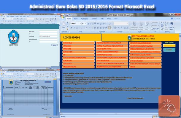 Perangkat Administrasi Guru Kelas Sd Format Microsoft Excel Download File Pendidikan