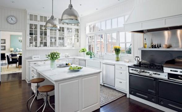 Como decorar mi casa: hermosas cocinas modernas de color blanco