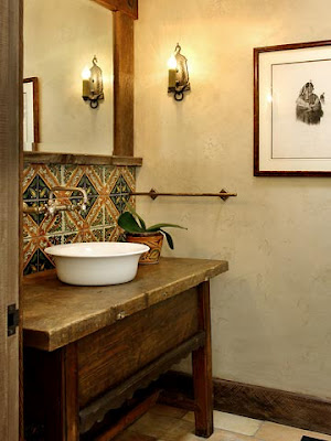 Ark arquitetura lavabo r stico - Muebles de lavabo rusticos ...