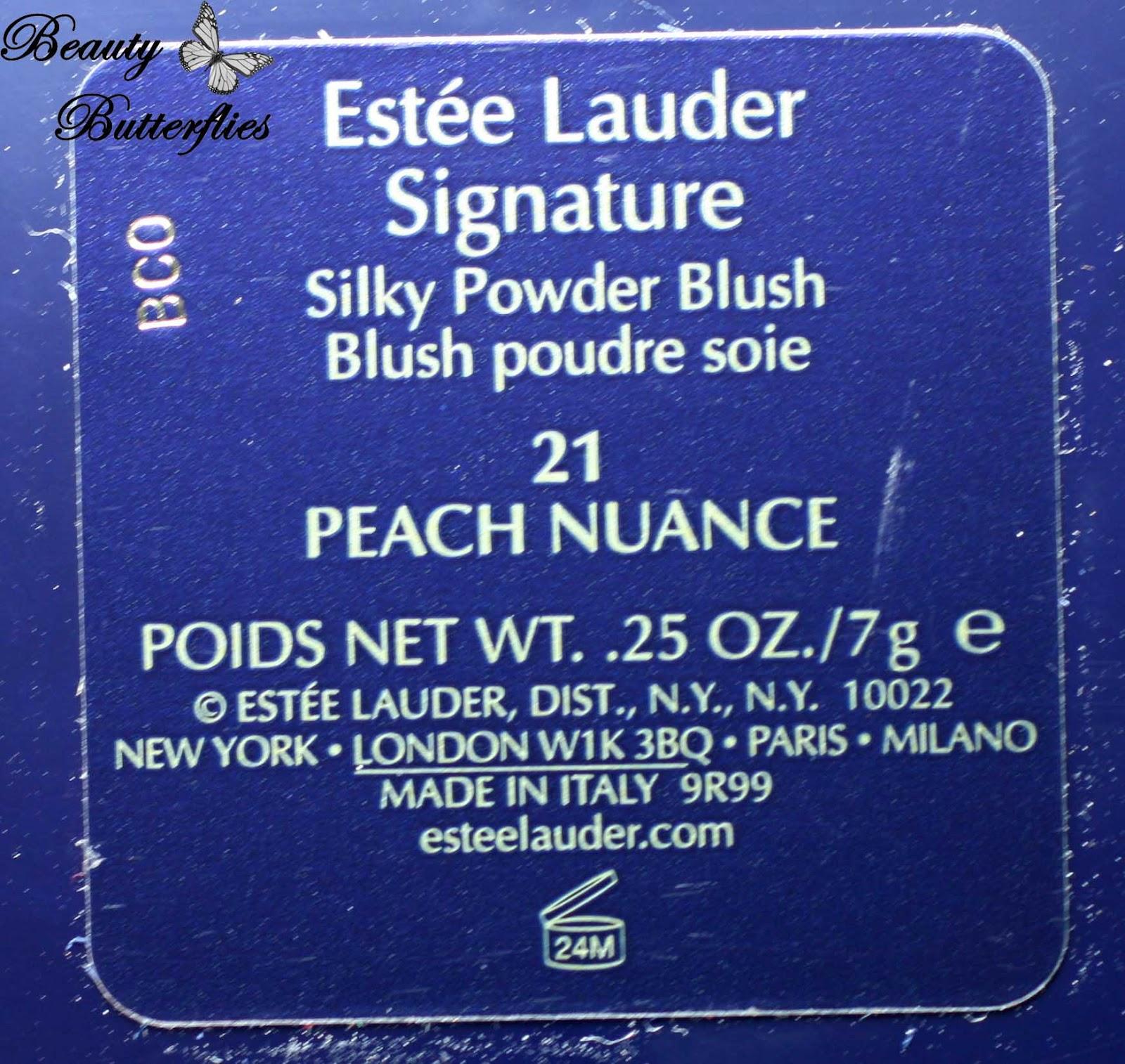 """Review] Estée Lauder Signature Silky Powder Blush """"Peach Nuance ..."""