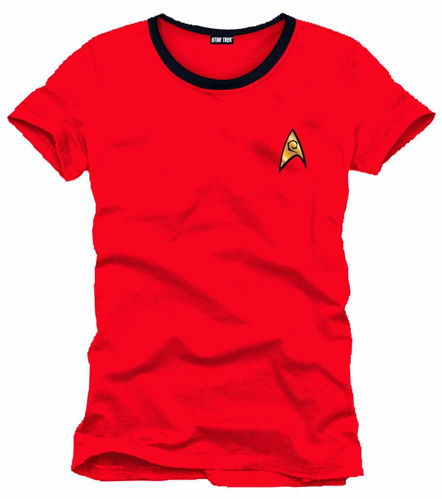 Camiseta Uniforme Star Trek Roja