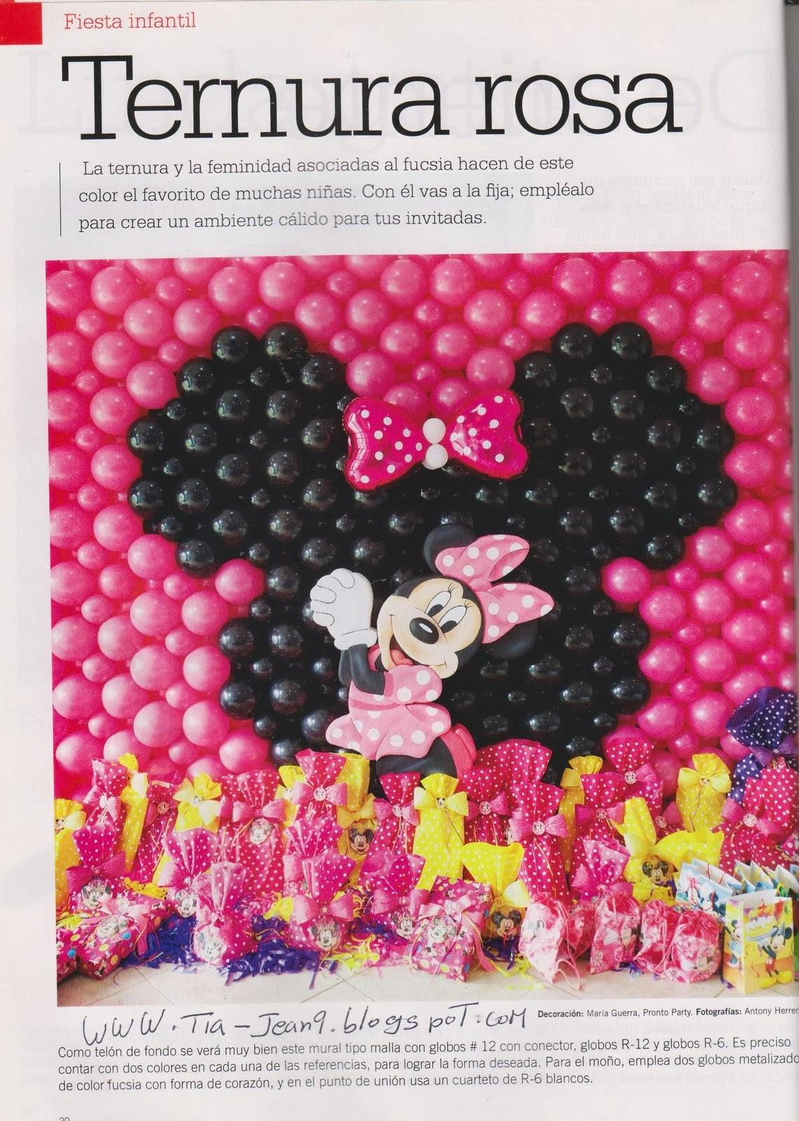 Decoracion Minnie Mouse Rosa ~ Moldes para Todo Decoraci?n Minnie Ternura Rosa